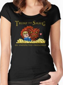 Trump and Smaug: An Unexpected Friendship Women's Fitted Scoop T-Shirt