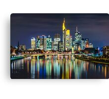 Night In Frankfurt Canvas Print