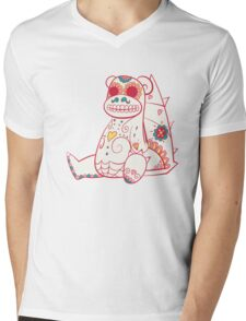 Slowbro Pokemuerto | Pokemon & Day of The Dead Mashup Mens V-Neck T-Shirt