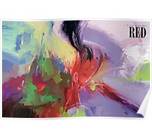 RED, abstract expressionism Poster