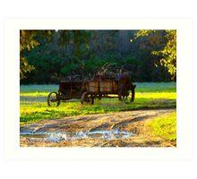 Berkeley Plantation~Cart Art Print