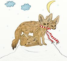 Fennec Is Sleeping On The Hill by Lucie Rovná