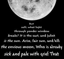 Moon Bridge Shakespeare Sticker