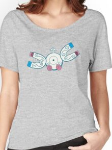 Magnemite Pokemuerto | Pokemon & Day of The Dead Mashup Women's Relaxed Fit T-Shirt