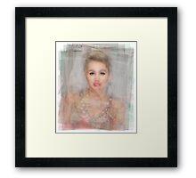 Miley Cyrus Portrait Framed Print