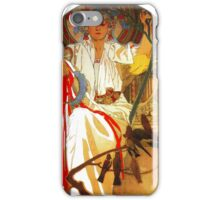 Alfons Mucha Spring festival Art Nouveau iPhone Case/Skin