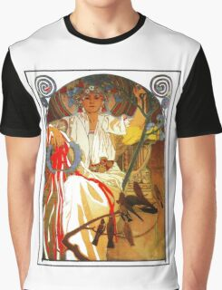 Alfons Mucha Spring festival Art Nouveau Graphic T-Shirt