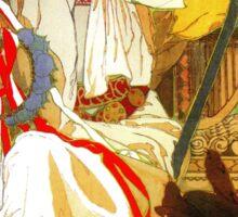 Alfons Mucha Spring festival Art Nouveau Sticker