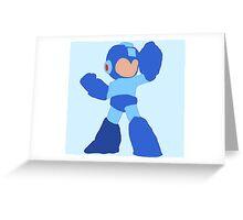 Simple Mega Man Greeting Card