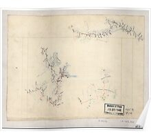 Civil War Maps 2256 Three sketches on one sheet of fortifications roads and streams in the vicinity of Salem Church and Banks Ford in the battle of Chancellorsville May 1863 Poster