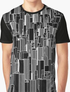 Tall city B&W inverted Graphic T-Shirt
