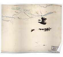 Civil War Maps 2220 Sketch of roads and streams in Highland County Va and Pendleton County W Va Poster