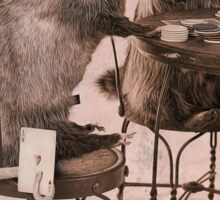 Opossum playing poker hiding Ace Sticker