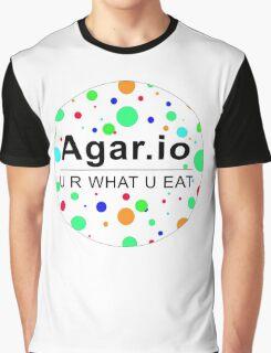 Agar.io U R WHAT U EAT (circle) Graphic T-Shirt