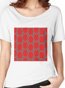 Audrey Gray Red Pattern Women's Relaxed Fit T-Shirt
