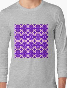 Audrey Pink Violet Pattern Long Sleeve T-Shirt