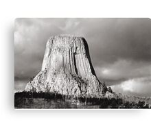 Devil's Tower Black and White Canvas Print