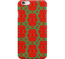 Audrey Green Red Pattern iPhone Case/Skin