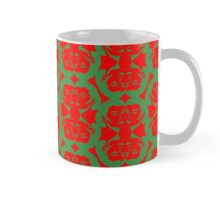 Audrey Green Red Pattern Mug