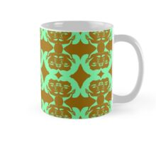 Audrey Green Brown Pattern Mug