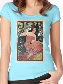 Vintage poster - JOB Cigarette Papers Women's Fitted Scoop T-Shirt