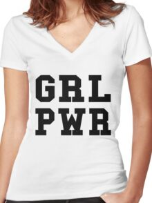 GRL PWR Women's Fitted V-Neck T-Shirt