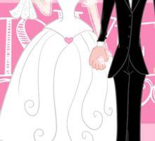 Newlyweds cartoon couple Sticker