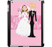 Newlyweds cartoon couple iPad Case/Skin