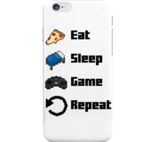 Eat, Sleep, Game, Repeat! 8bit iPhone Case/Skin