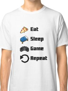 Eat, Sleep, Game, Repeat! 8bit Classic T-Shirt