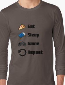 Eat, Sleep, Game, Repeat! 8bit Long Sleeve T-Shirt