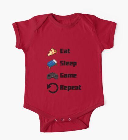 Eat, Sleep, Game, Repeat! 8bit One Piece - Short Sleeve