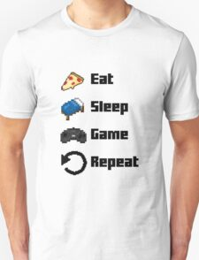 Eat, Sleep, Game, Repeat! 8bit T-Shirt