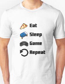 Eat, Sleep, Game, Repeat! 8bit T-Shirt