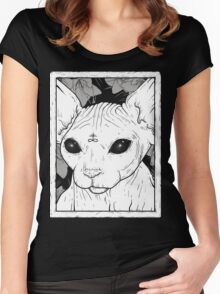 Occult Cat Women's Fitted Scoop T-Shirt
