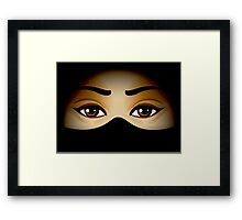 Arabic Eyes Framed Print