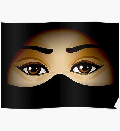 Arabic Eyes Poster