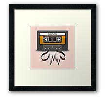 Old School music tape Framed Print