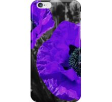 Purple coloursplash poppies iPhone Case/Skin