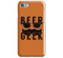 Beer Geek - Vintage Style Beer Poster iPhone Case/Skin