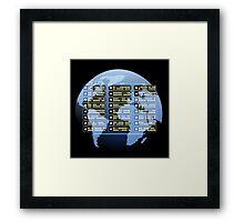 IT company Emblem Framed Print