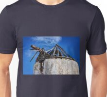 Old ruined windmill in Paros island Unisex T-Shirt