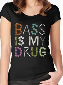 BASS IS MY DRUG Women's Fitted Scoop T-Shirt