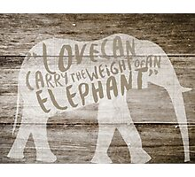 The Weight of an Elephant Photographic Print