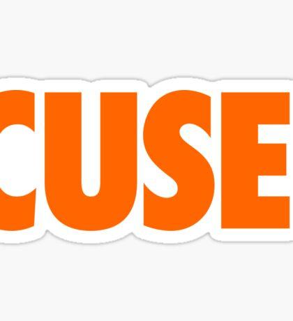 CUSE - ORANGE Sticker