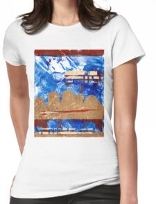 Abstract Landscape 1 Womens Fitted T-Shirt