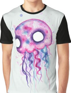 Jellyfish Watercolor Graphic T-Shirt