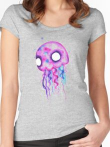 Jellyfish Watercolor Women's Fitted Scoop T-Shirt