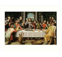 The Last Supper (Ultima Cena) by Joan de Joanes (c. 1562) Art Print