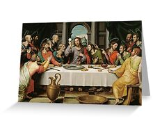 The Last Supper (Ultima Cena) by Joan de Joanes (c. 1562) Greeting Card